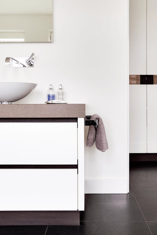 Keramiek wastafelblad op maat badkamer