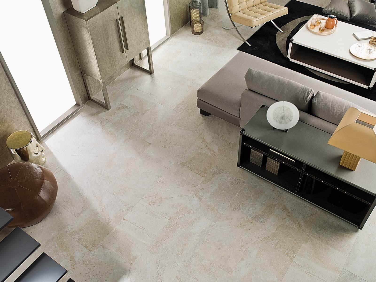 Design woonkamer met Bianco Sardo