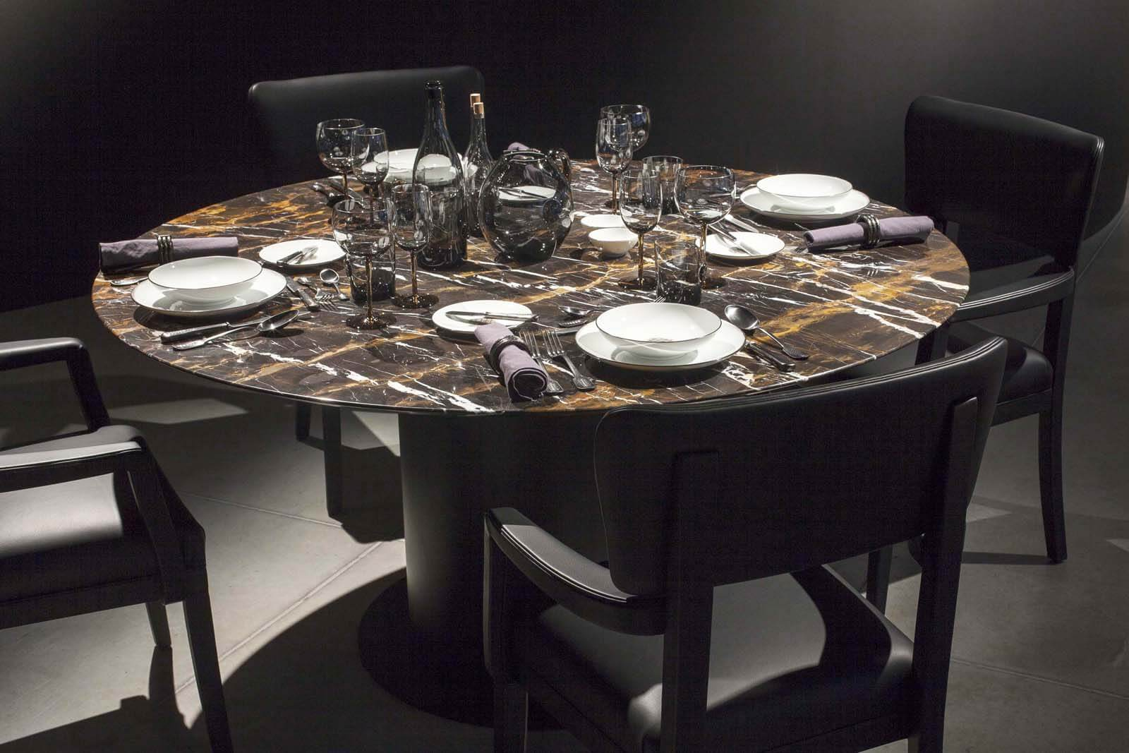 Marmeren tafelblad op maat eettafel Grillo Natuursteen