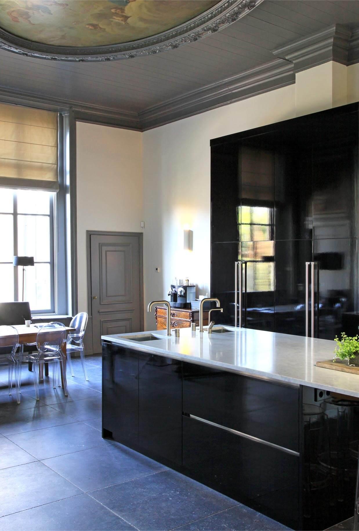 Natuursteen kookeiland werkblad op maat keuken grillo natuursteen b v - Werkblad bo is op maat ...