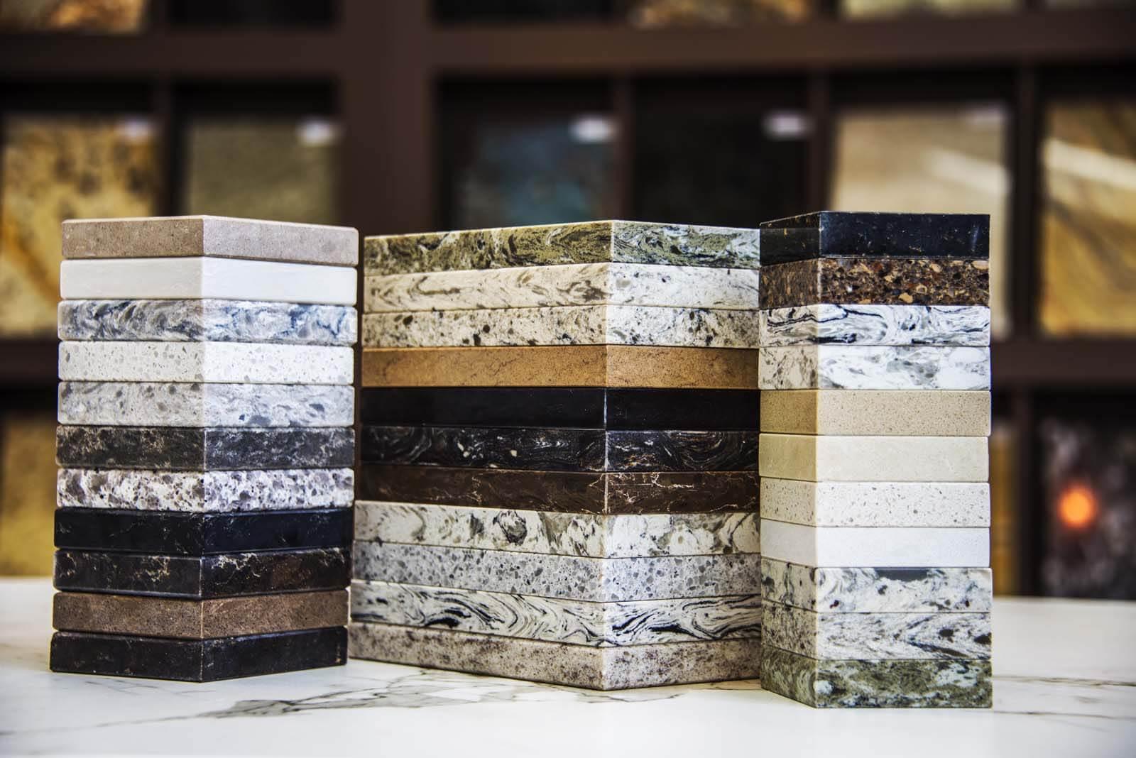 Composiet voorbeeld stalen kleuren Grillo Natuursteen keukenblad werkblad