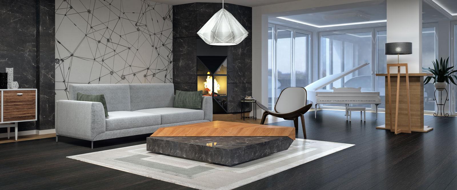 Interieur inspiratie Grillo Natuursteen woonkamer living