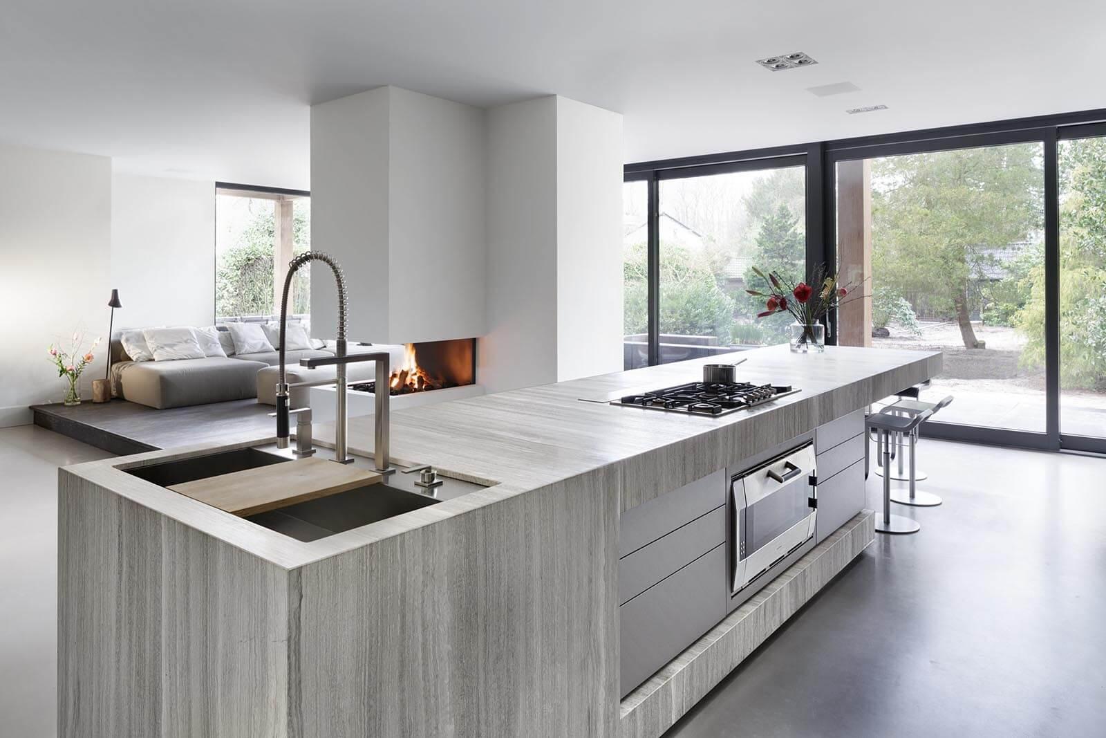 Marmeren design keukenblad Oak Grey