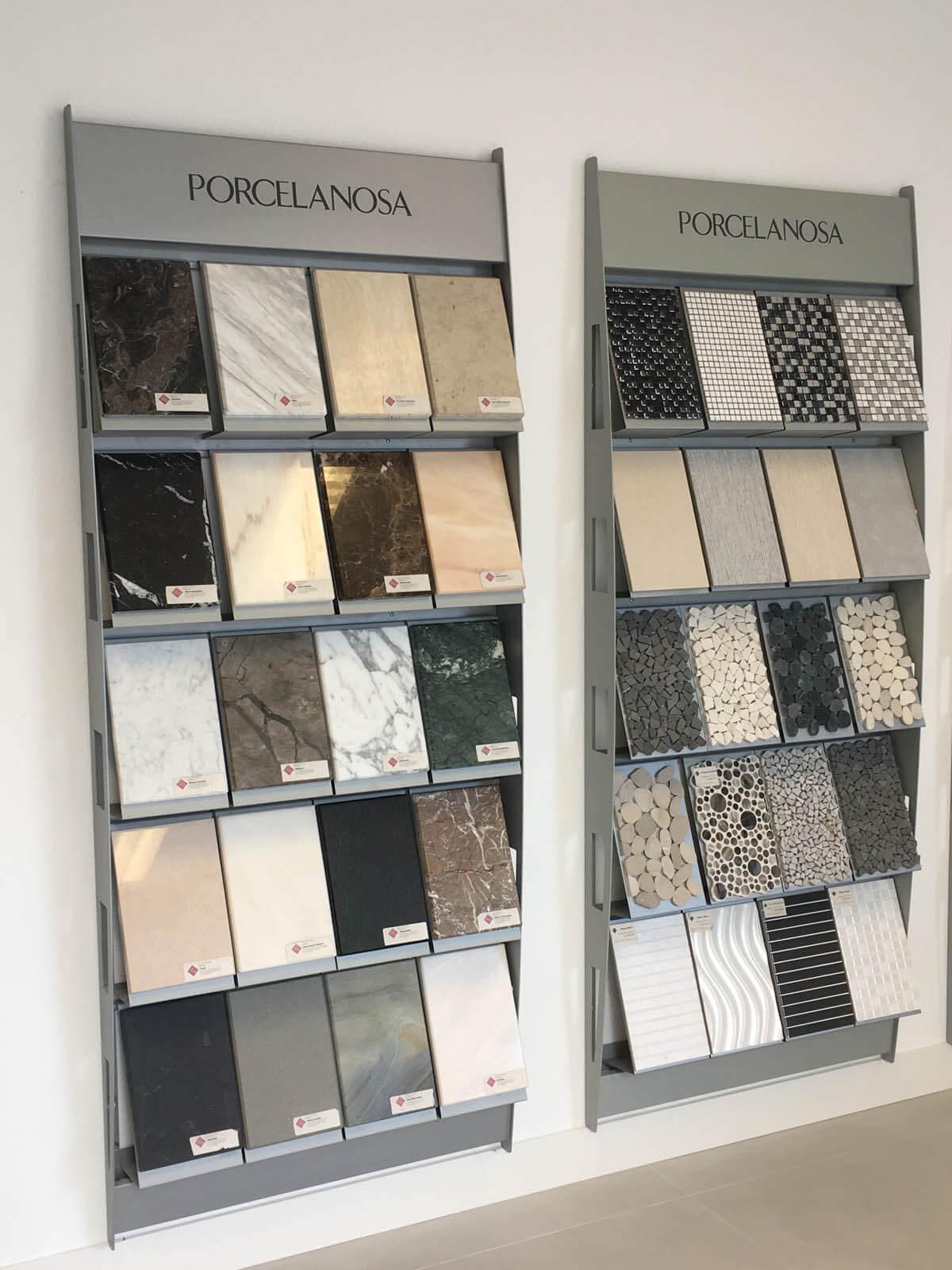 Natuursteen wand steensoorten platen stalen Grillo Natuursteen showroom