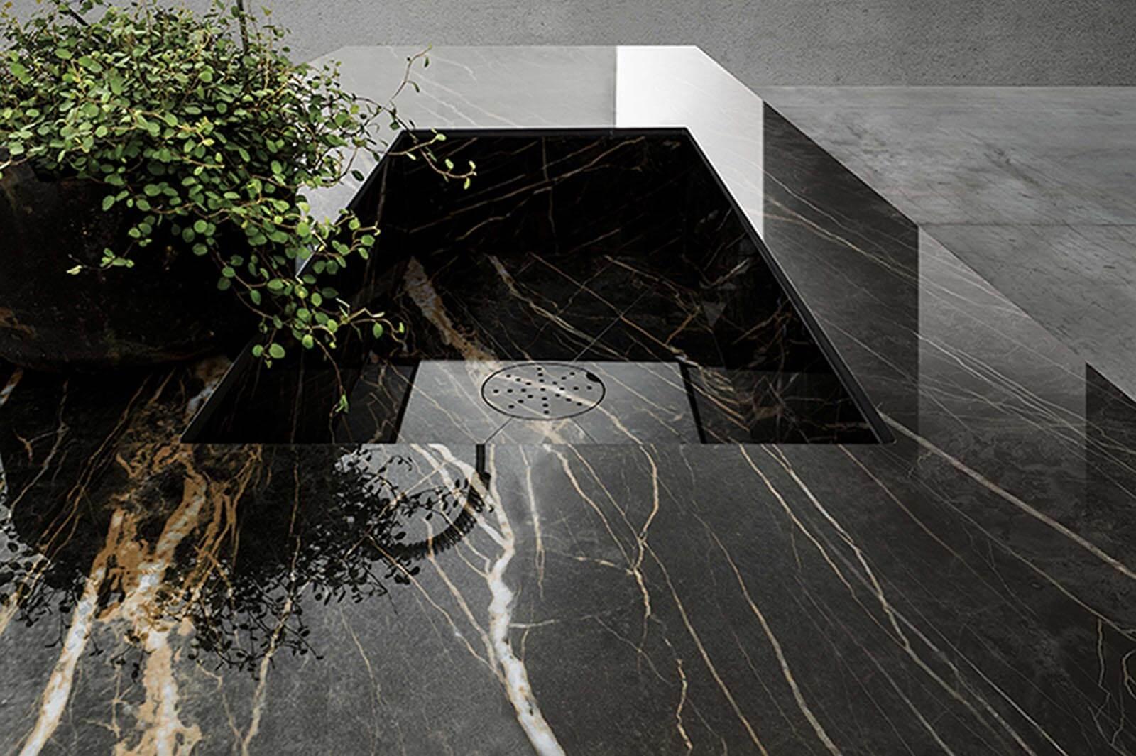 Spoelbak natuursteen Cava Noir Desir Lucidato Grillo Natuursteen