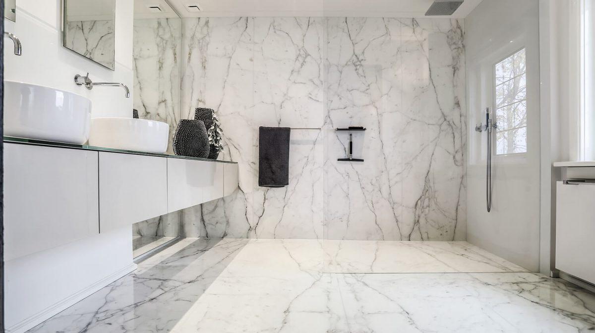 Platen Voor Badkamer : Badkamer in marmer grillo natuursteen b v